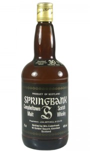 Springbank 1950 30 Year Old Cadenhead's 1980 Bottling