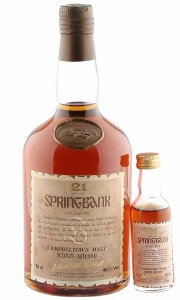 Springbank 21 Year Old, Eighties Dumpy Bottling